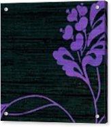 Purple Glamour On Black Weave Acrylic Print
