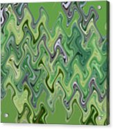 Purple Green Smoke Swirl Acrylic Print