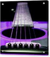 Purple Guitar 15 Acrylic Print by Andee Design