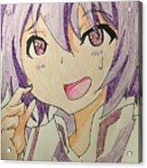Purple Hair Acrylic Print