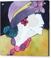 Purple Hat Acrylic Print