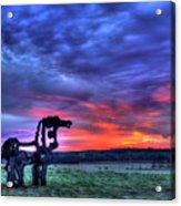 Purple Haze Sunrise The Iron Horse Acrylic Print