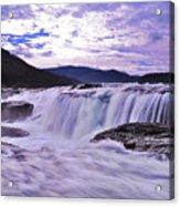 Purple Haze Waterfall Acrylic Print