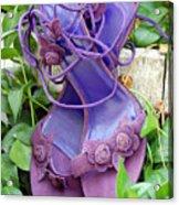 Purple Heels In Periwinkle Acrylic Print