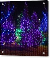 Purple Holiday Lights Acrylic Print