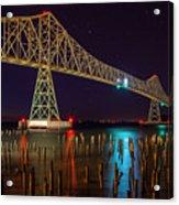 Purple Hour At Astoria Bridge Acrylic Print