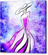 Purple Lady Charm Acrylic Print