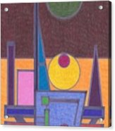Purple Lines Acrylic Print
