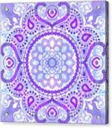 Purple Lotus Mandala Acrylic Print