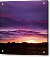 Purple Majesty Sunset Acrylic Print