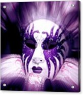 Purple Mask Flash Acrylic Print