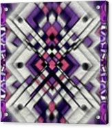 Purple Maze Acrylic Print
