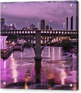 Purple Minneapolis For Prince Acrylic Print