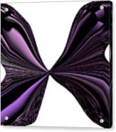 Purple Monarch Butterfly Abstract Acrylic Print