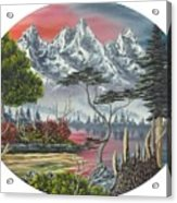 Purple Mountain Lake Acrylic Print