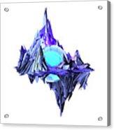 Purple Mountain Shapes - 46 Acrylic Print