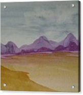 Purple Mountains 2 Acrylic Print