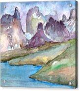 Purple Mountains Acrylic Print