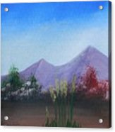 Purple Mountains In The Summer Acrylic Print