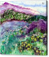 Purple Mountains Acrylic Print