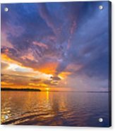 Purple Orange Dream Sunset Acrylic Print
