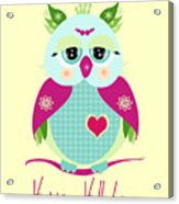 Purple Owl Acrylic Print