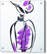 Purple Perfume Bottle Acrylic Print
