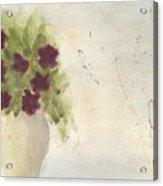 Purple Petunias Acrylic Print
