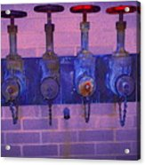 Purple Pipes Acrylic Print