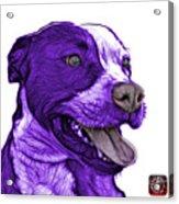 Purple Pit Bull Fractal Pop Art - 7773 - F - Wb Acrylic Print