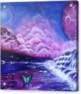Purple Planet Acrylic Print
