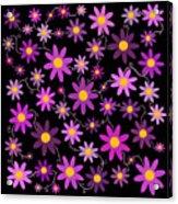 Purple Polka Acrylic Print