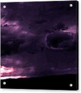 Purple Rain Clouds Majesty Acrylic Print