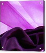 Purple Silk Acrylic Print