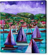 Purple Skies Over St. John Acrylic Print