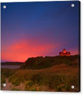 Purple Sky Over Coast Guard Eastham Acrylic Print