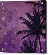 Purple Sky Palm Acrylic Print
