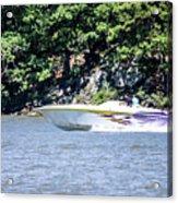 Purple Speed Boat Acrylic Print