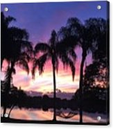 Purple Sunrise  Acrylic Print