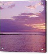 Purple Sunset At Kapalua Beach Acrylic Print