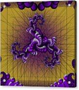Purple Tripolar Acrylic Print