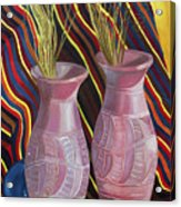 Purple Vases Acrylic Print