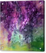 Purple Vortex Painting Acrylic Print