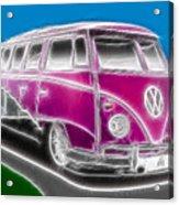 Purple Vw Bus Acrylic Print