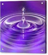 Purple Water Drop Acrylic Print