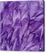 Purple Watercolor Art  Acrylic Print