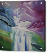 Purple Waterfalls Acrylic Print