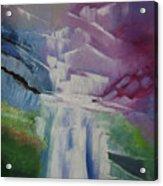 Purple Waterfalls Acrylic Print