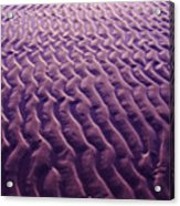 Purple Waves Of Sand Acrylic Print