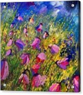 Purple Wild Flowers  Acrylic Print